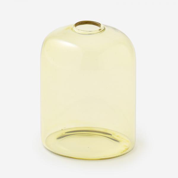 ドロワ カラーガラスベース Sサイズ アンバー