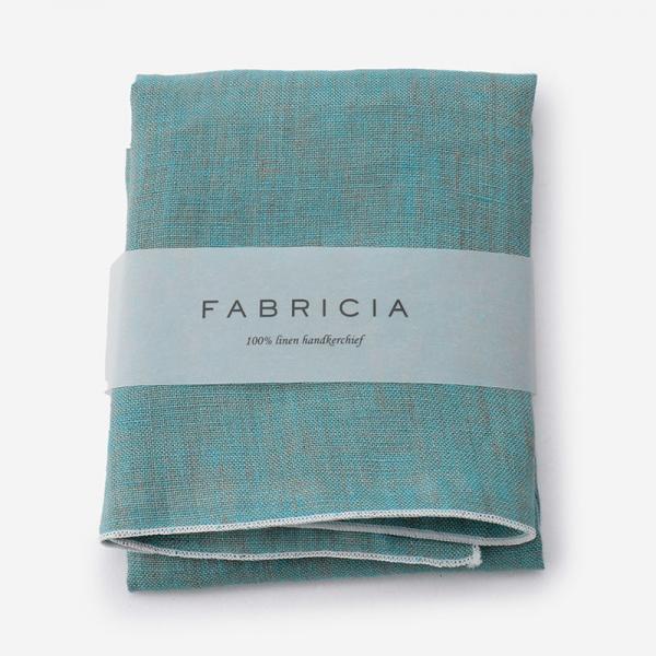FABRICIA PLANハンカチ ブルー×ホワイト