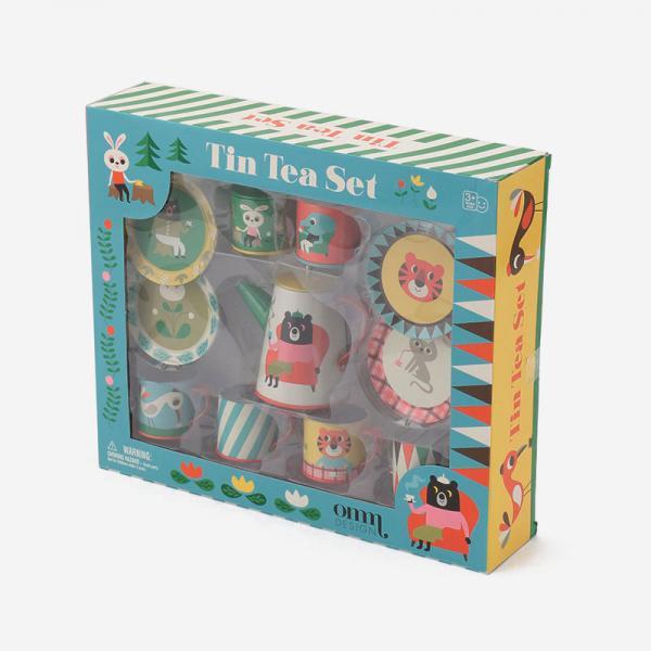 Ingela P.Arrhenius×OMM-design Tin Tea Set~カフェオーナーなりきりセット~