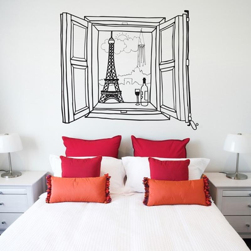 Paris Window ウォールステッカー 110×131cm