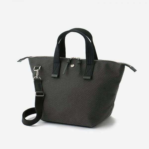 CaBas No.33 Bowler bag small+Shoulder strap Gray/Black