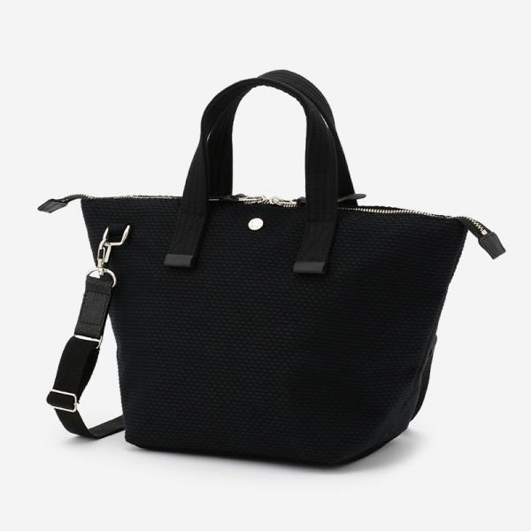 CaBas No.33 Bowler bag small+Shoulder strap Black/Black