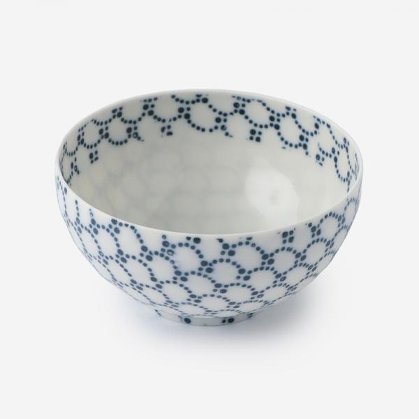 丸直製陶所 染付陶碗 青波 青