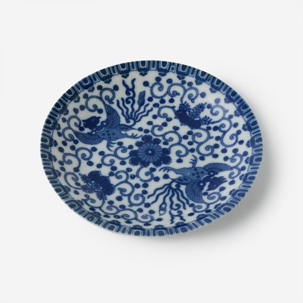 丸直製陶所 染付皿 鳳凰
