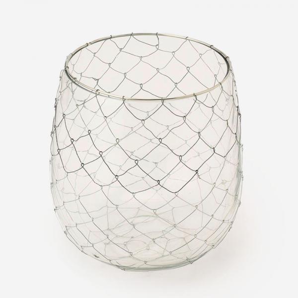 ハンドメイドワイヤーガラスベース BOWL
