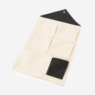KIDS HOUSE ウォールポケット ホワイト+ブラック