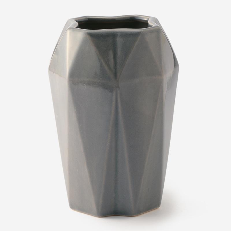 fluted l vase dove grey living actus online アクタスオンライン