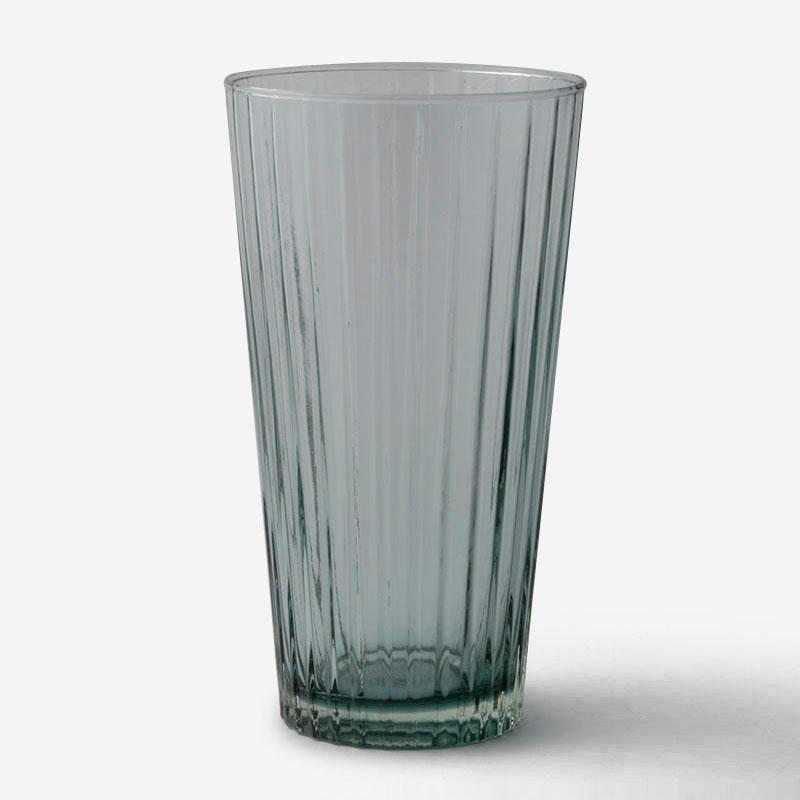 ハンドメイドガラスベース RIB Mサイズ グレー