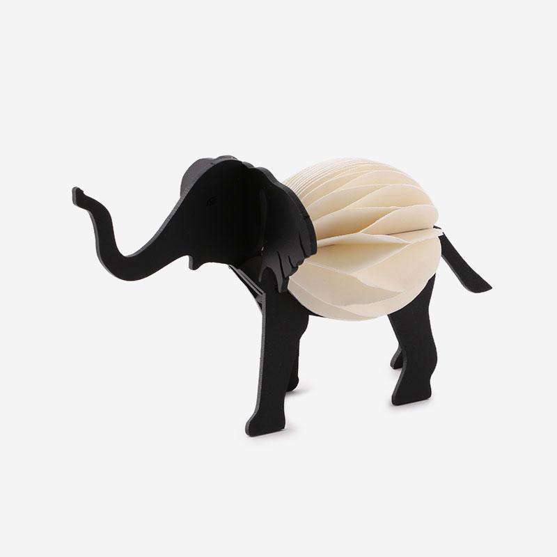 アニマルペーパーオブジェ ELEPHANT ブラック