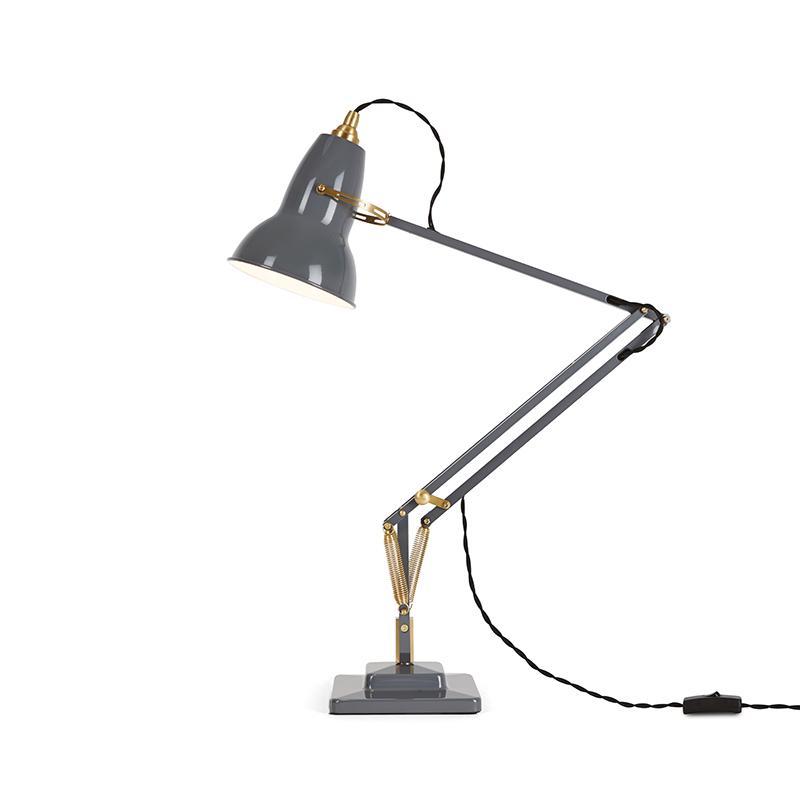 ANGLEPOISE 1227 BRASS DESK LAMP ELEPHANT GREY
