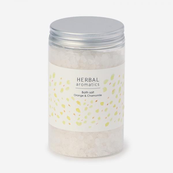 HERBAL aromatics バスソルト オレンジ&カモミール