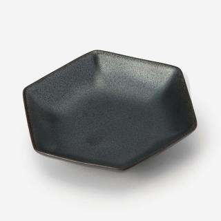 KIHARA 型変わり豆皿 六角 ブラック
