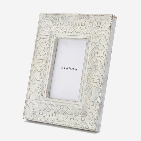 ウッドフォトフレーム ホワイト 4×6