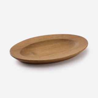 Teak Wood プレート W13.2cm