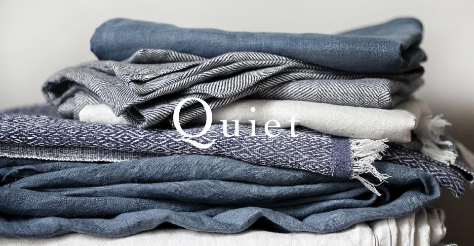 ▼ 自然の風景にインスパイアされたベッドウェアコレクション「Quiet」。